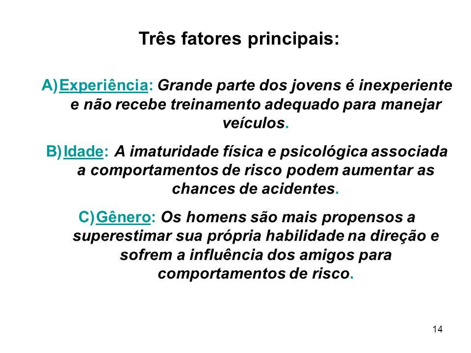 Três fatores principais: