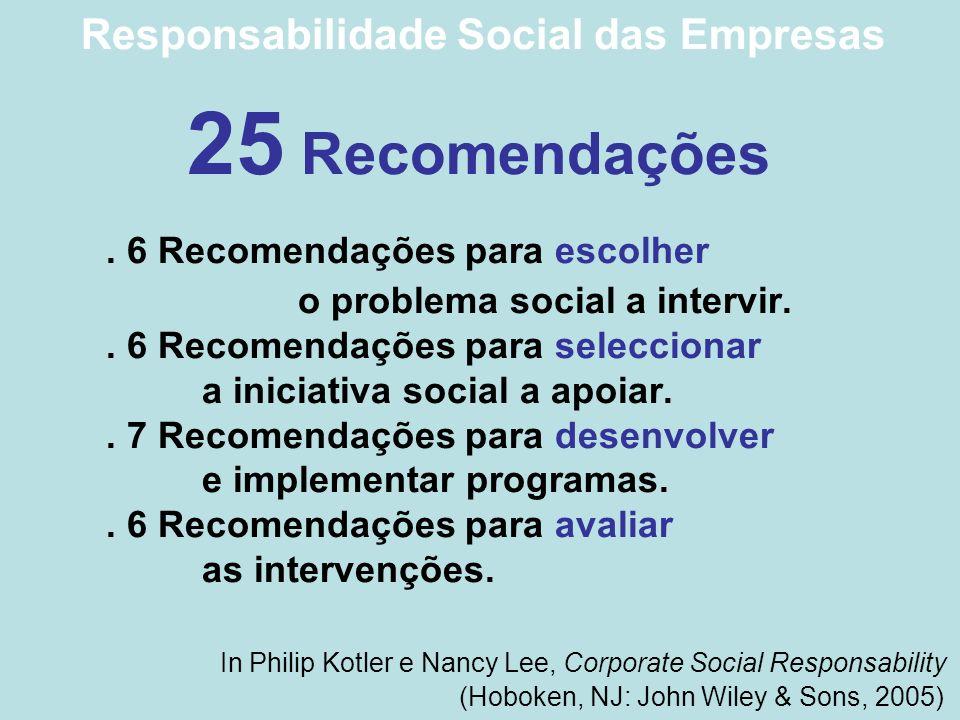Responsabilidade Social das Empresas 25 Recomendações