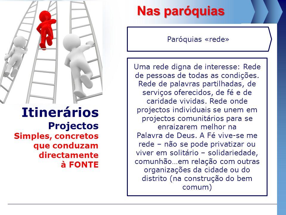 Nas paróquias Paróquias «rede»