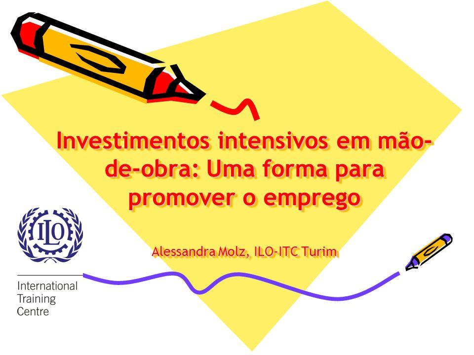 Investimentos intensivos em mão-de-obra: Uma forma para promover o emprego Alessandra Molz, ILO-ITC Turim