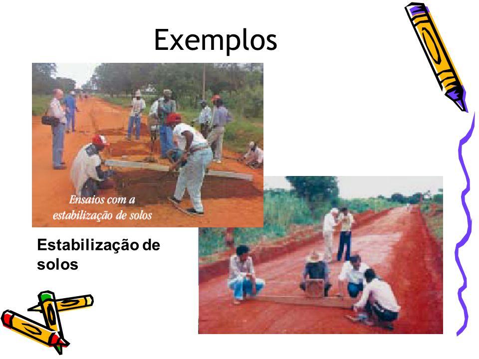 Exemplos Estabilização de solos