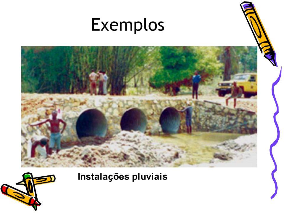 Exemplos Instalações pluviais