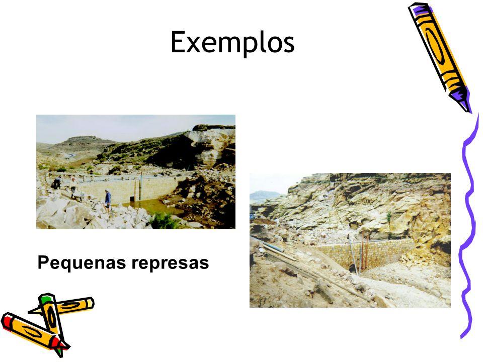 Exemplos Pequenas represas