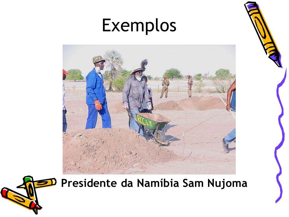 Exemplos Presidente da Namíbia Sam Nujoma