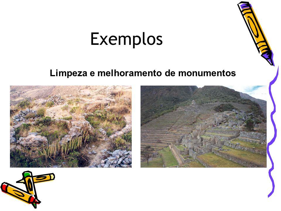 Limpeza e melhoramento de monumentos