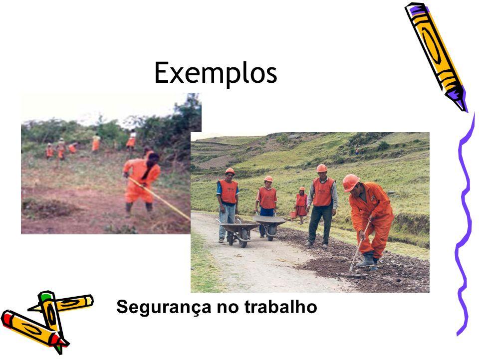 Exemplos Segurança no trabalho