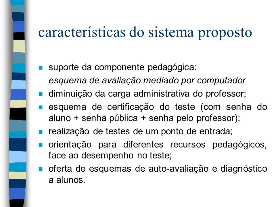 características do sistema proposto