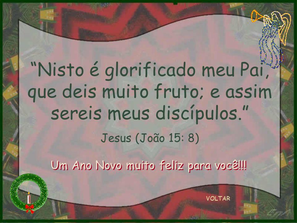 Nisto é glorificado meu Pai, que deis muito fruto; e assim sereis meus discípulos.