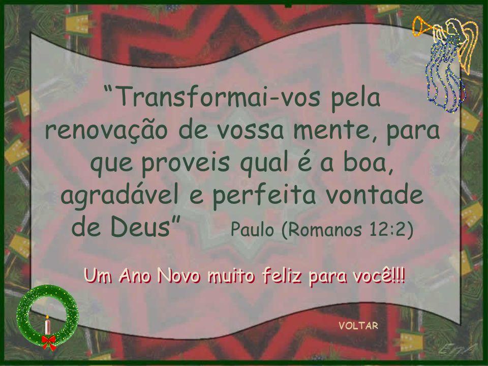 Transformai-vos pela renovação de vossa mente, para que proveis qual é a boa, agradável e perfeita vontade de Deus Paulo (Romanos 12:2)