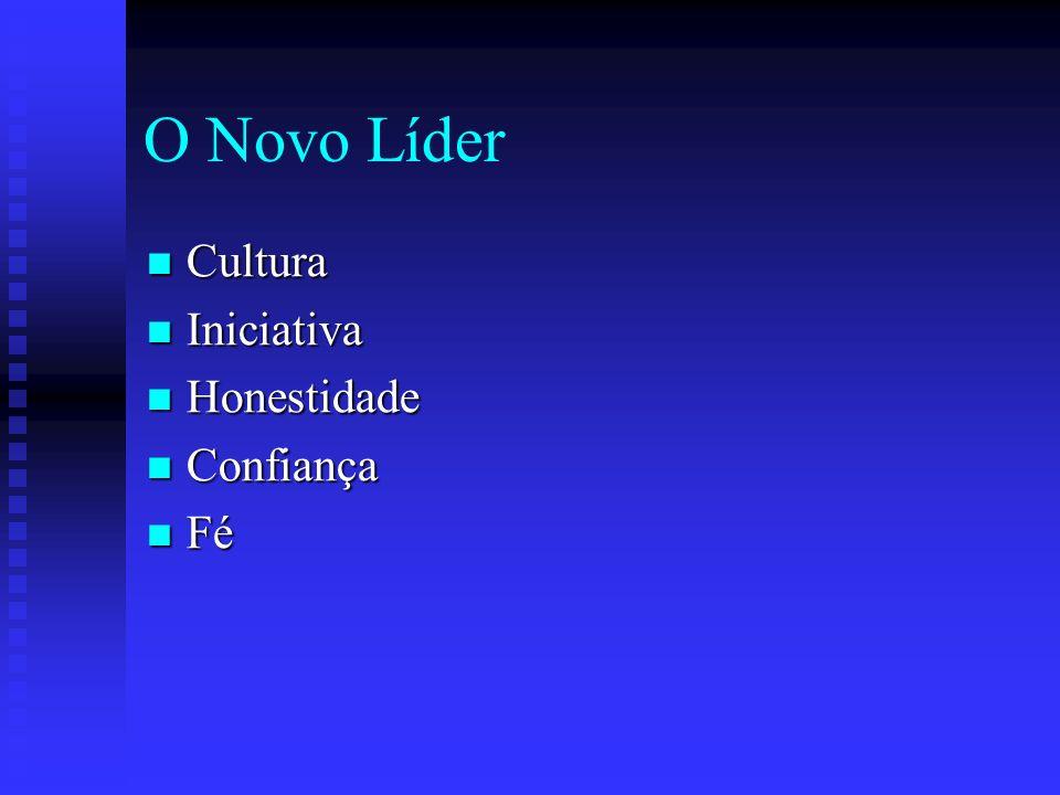 O Novo Líder Cultura Iniciativa Honestidade Confiança Fé