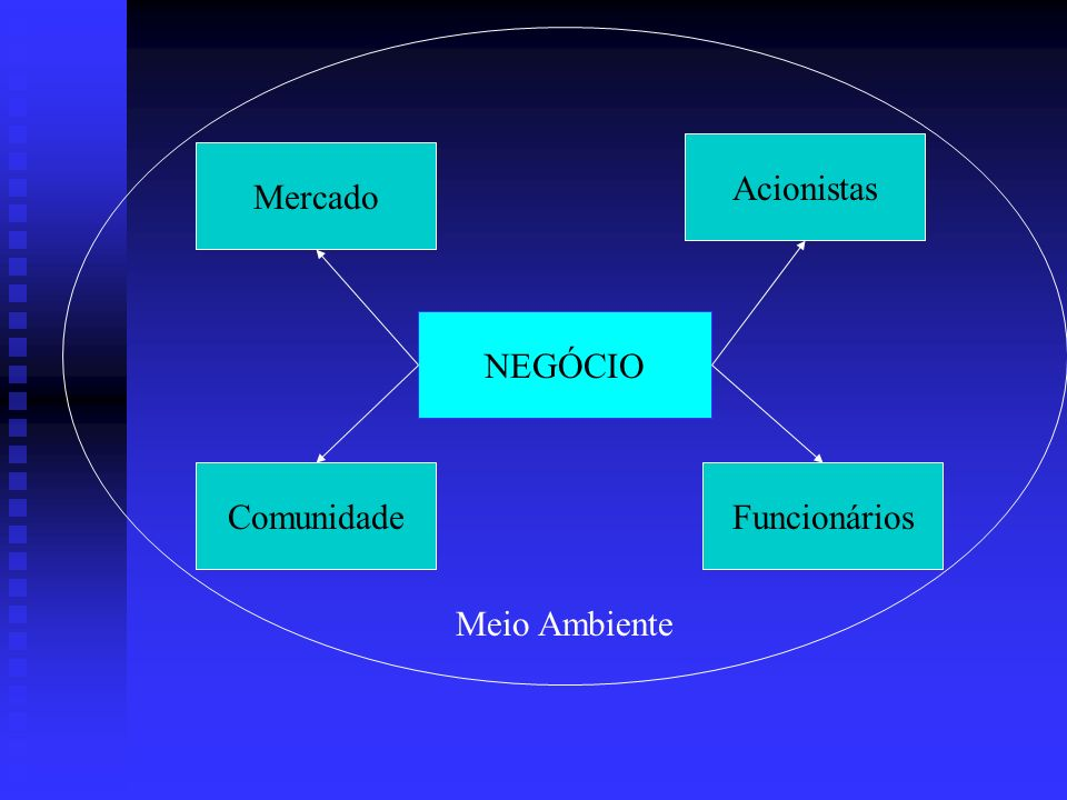 Acionistas Mercado NEGÓCIO Comunidade Funcionários Meio Ambiente