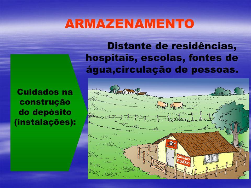 Cuidados na construção do depósito (instalações):