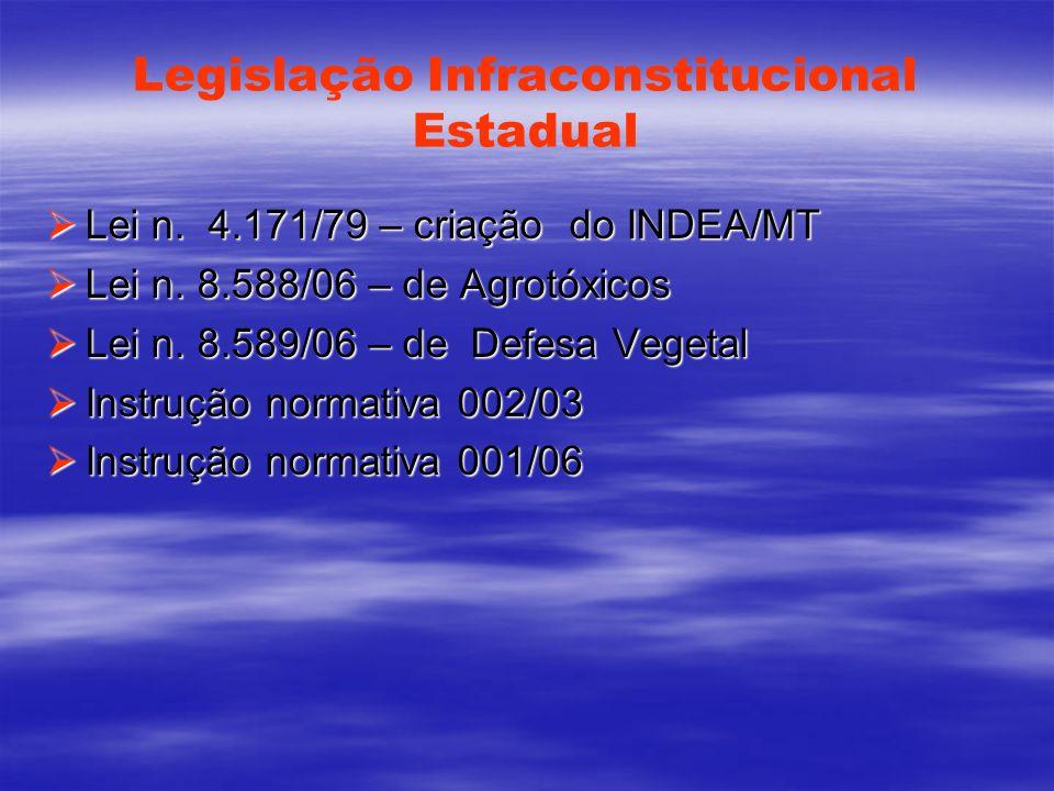 Legislação Infraconstitucional Estadual