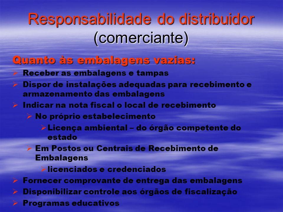 Responsabilidade do distribuidor (comerciante)