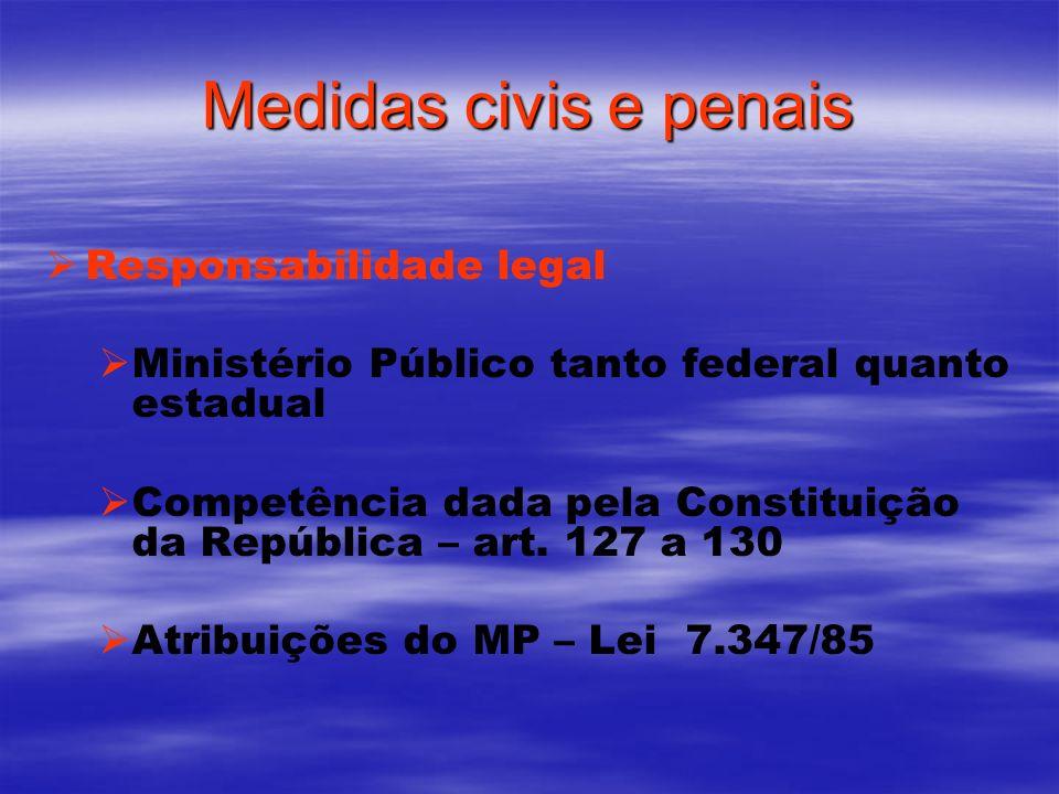 Medidas civis e penais Responsabilidade legal