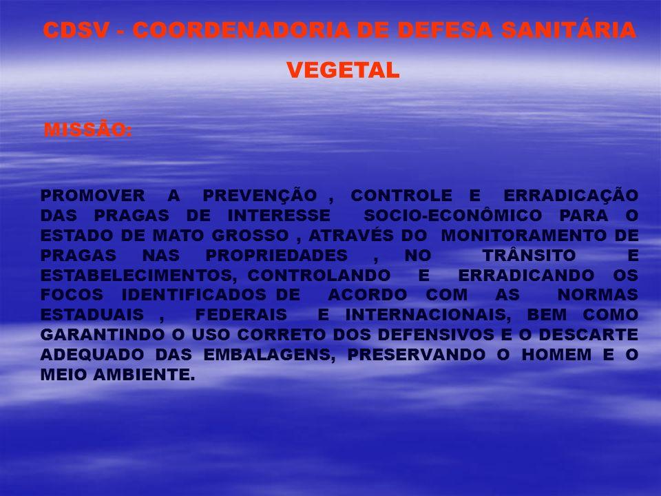 CDSV - COORDENADORIA DE DEFESA SANITÁRIA