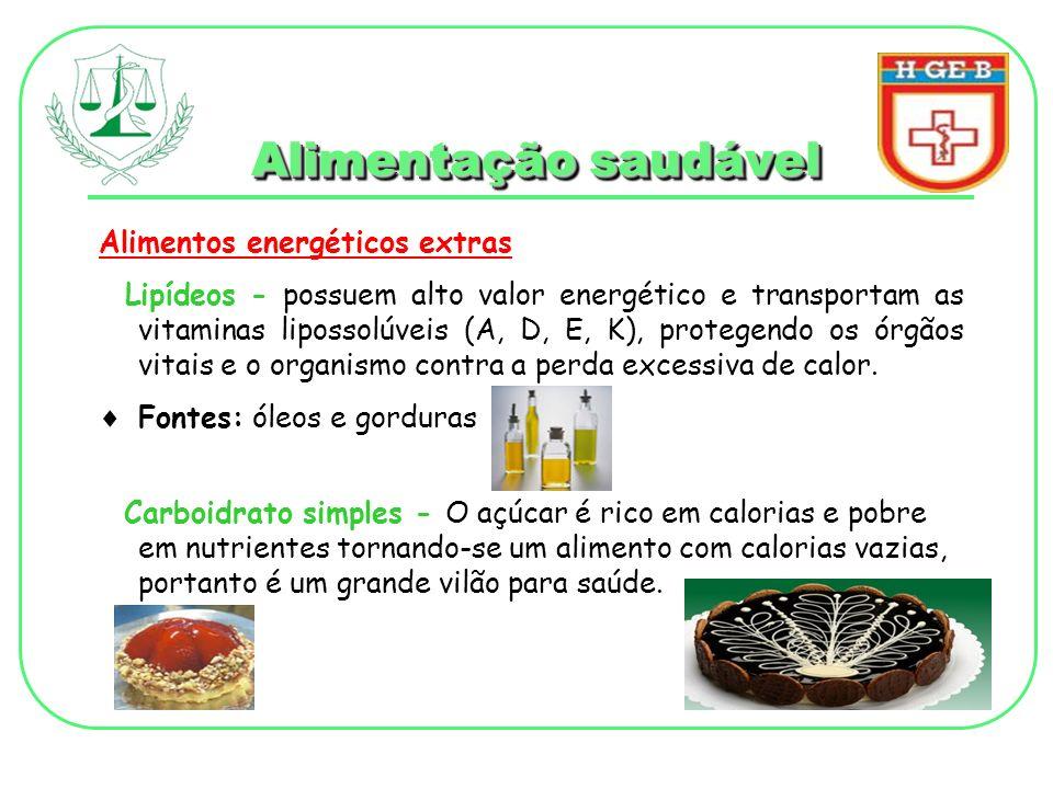 Alimentação saudável Alimentos energéticos extras