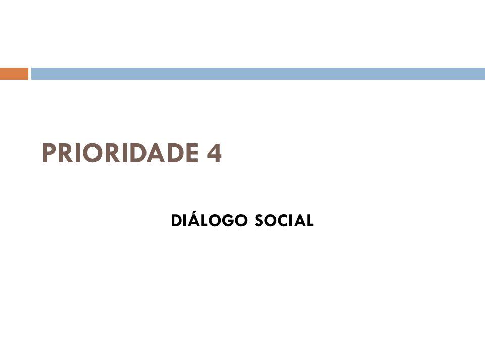 PRIORIDADE 4 DIÁLOGO SOCIAL