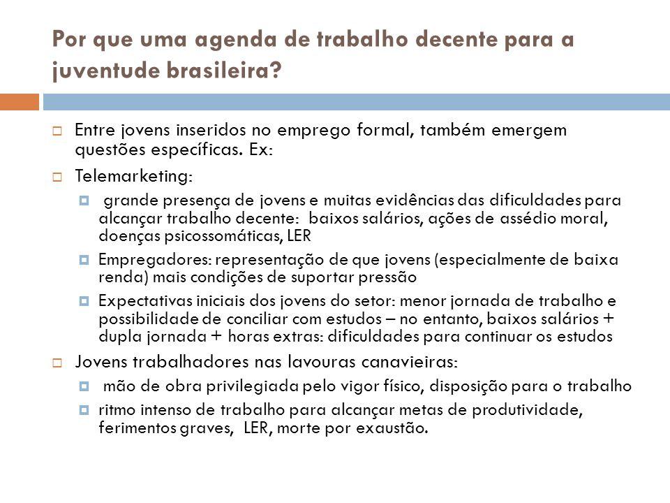 Por que uma agenda de trabalho decente para a juventude brasileira