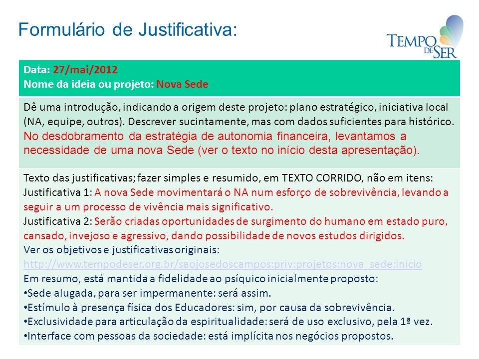 Formulário de Justificativa: