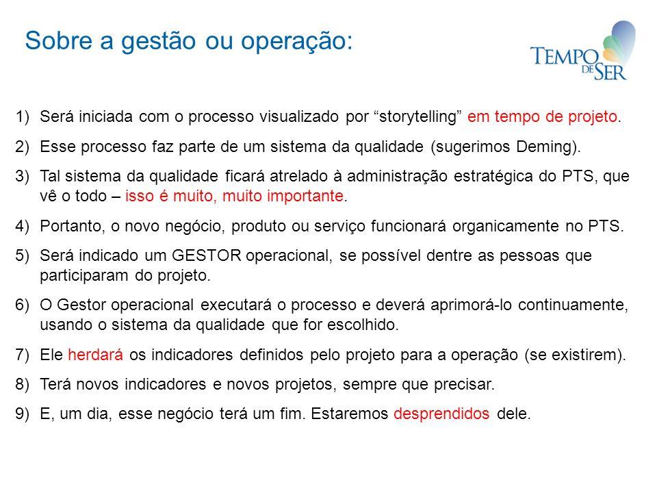 Sobre a gestão ou operação: