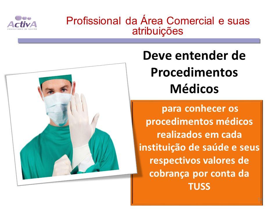 Deve entender de Procedimentos Médicos