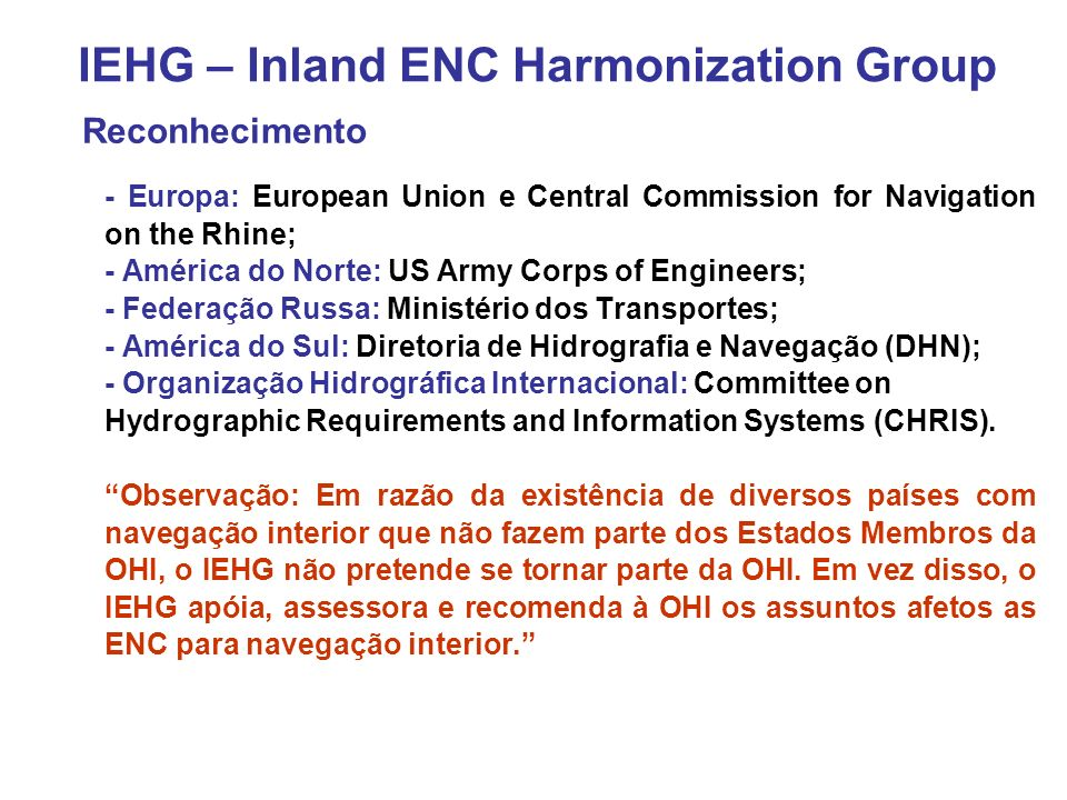 IEHG – Inland ENC Harmonization Group