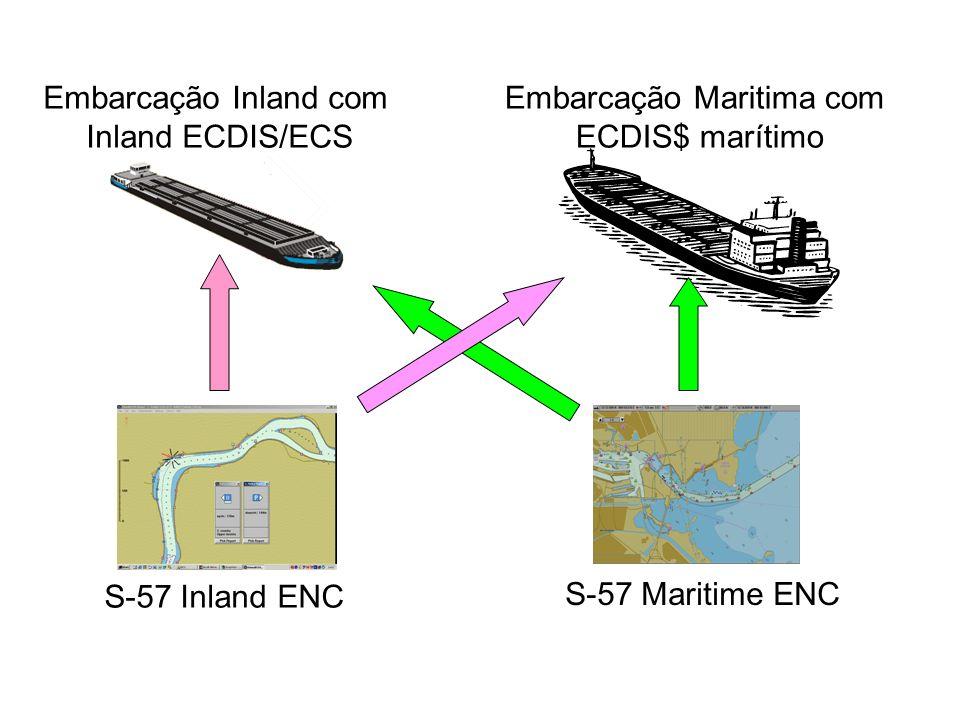 Embarcação Inland com Inland ECDIS/ECS