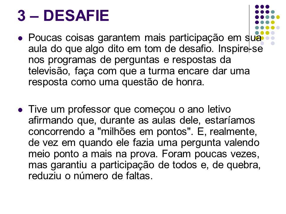 3 – DESAFIE