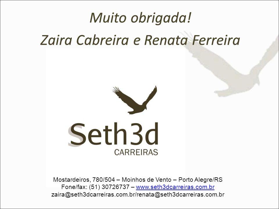 Muito obrigada! Zaira Cabreira e Renata Ferreira Muito obrigada!