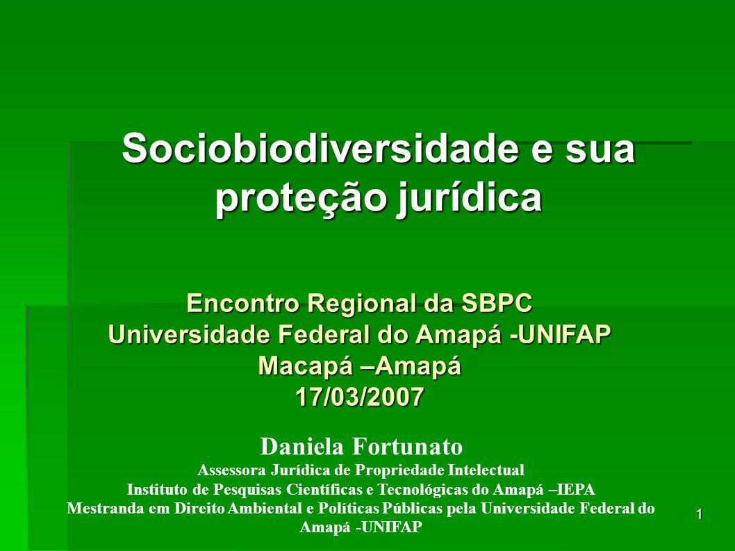 Sociobiodiversidade e sua proteção jurídica