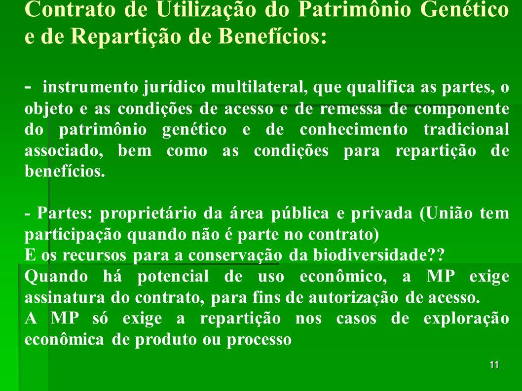 Contrato de Utilização do Patrimônio Genético e de Repartição de Benefícios:
