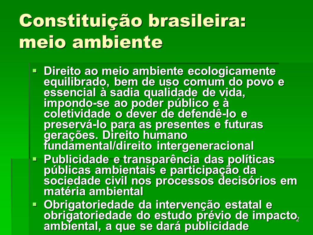 Constituição brasileira: meio ambiente