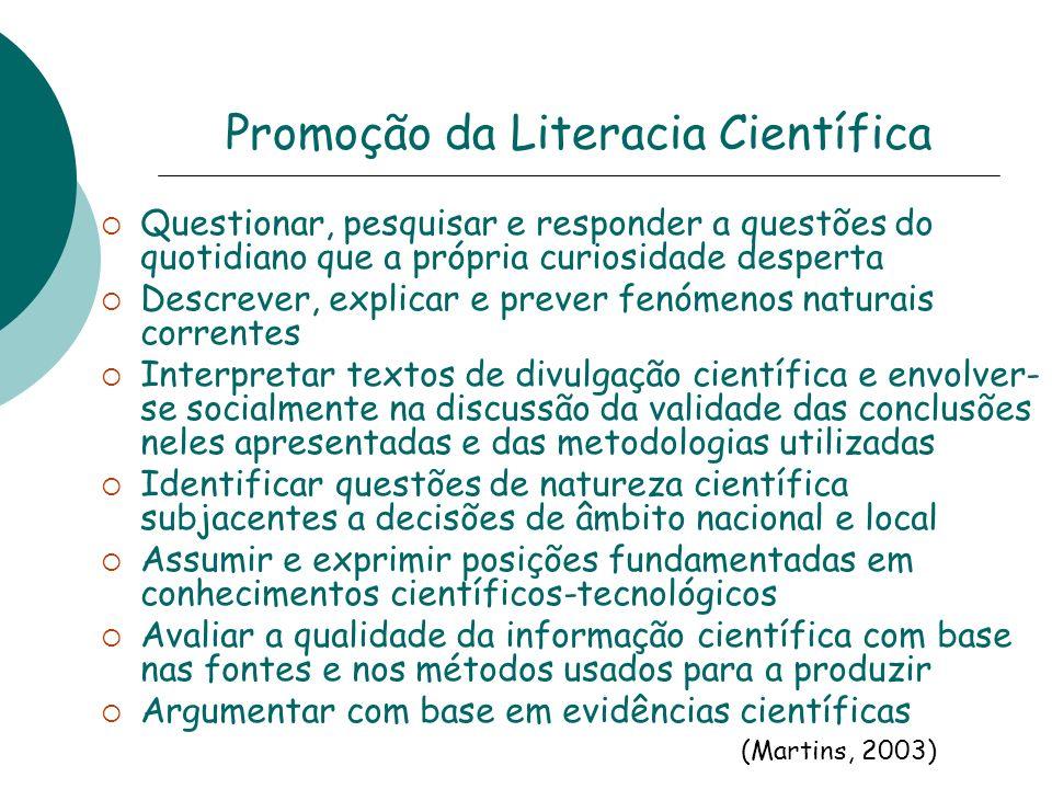 Promoção da Literacia Científica