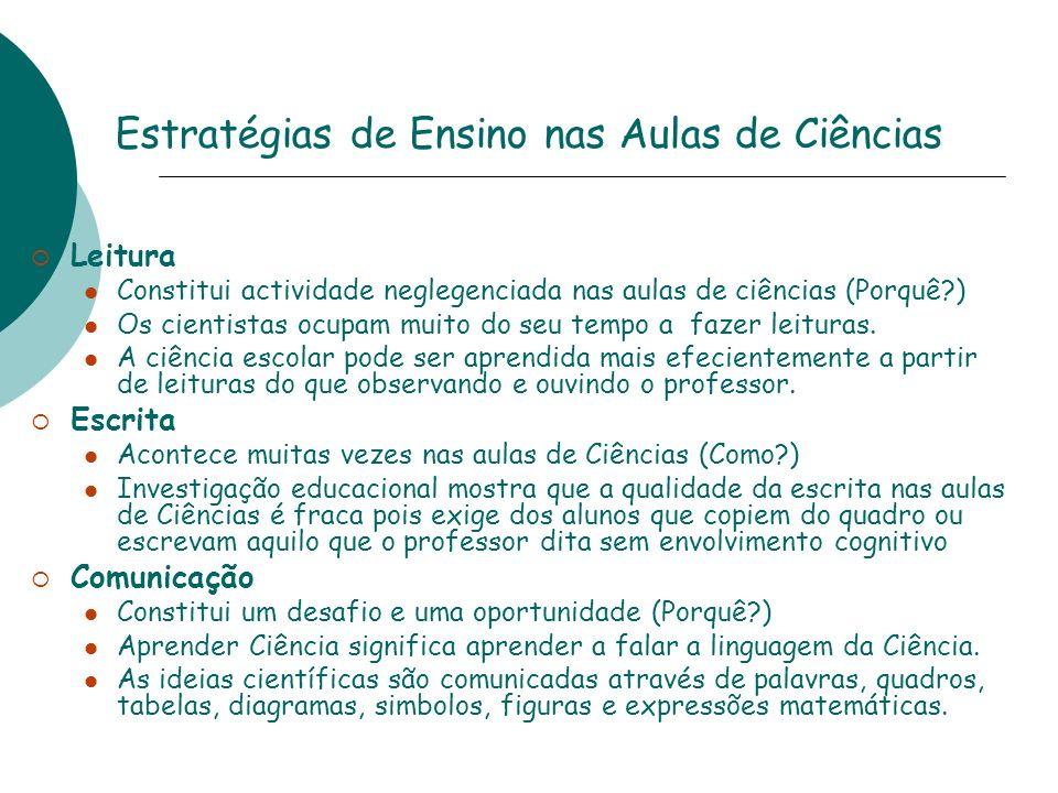 Estratégias de Ensino nas Aulas de Ciências