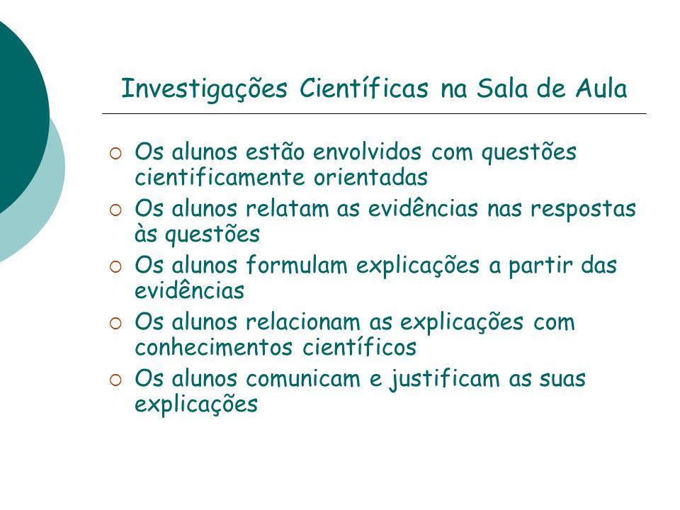 Investigações Científicas na Sala de Aula