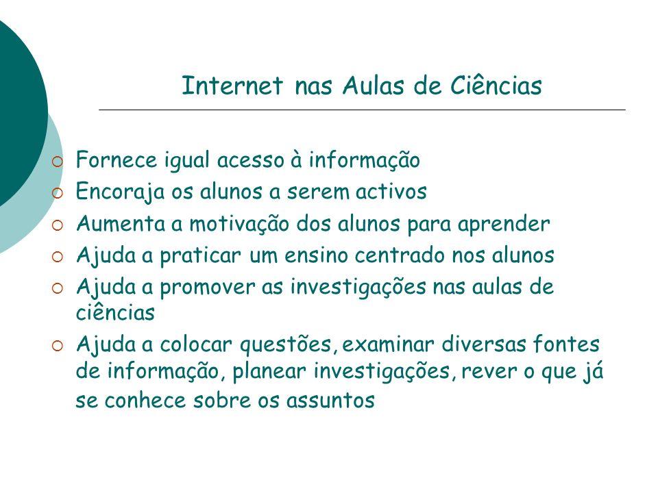 Internet nas Aulas de Ciências