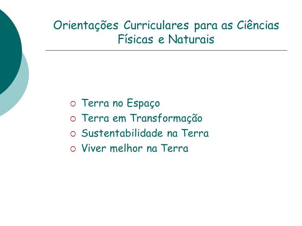 Orientações Curriculares para as Ciências Físicas e Naturais
