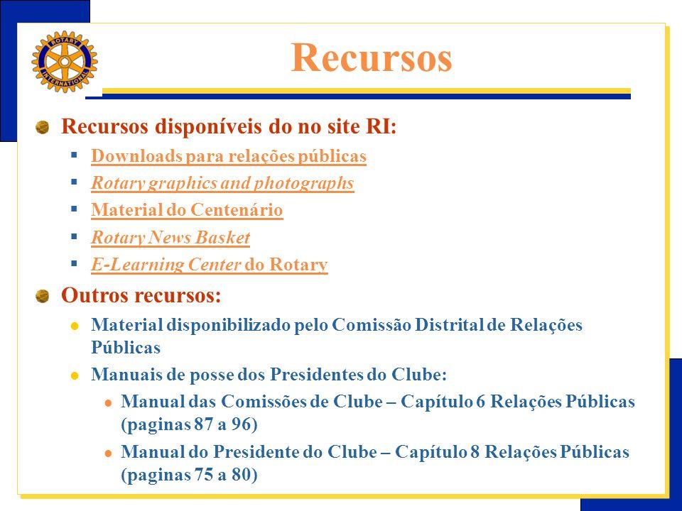 Recursos Recursos disponíveis do no site RI: Outros recursos: