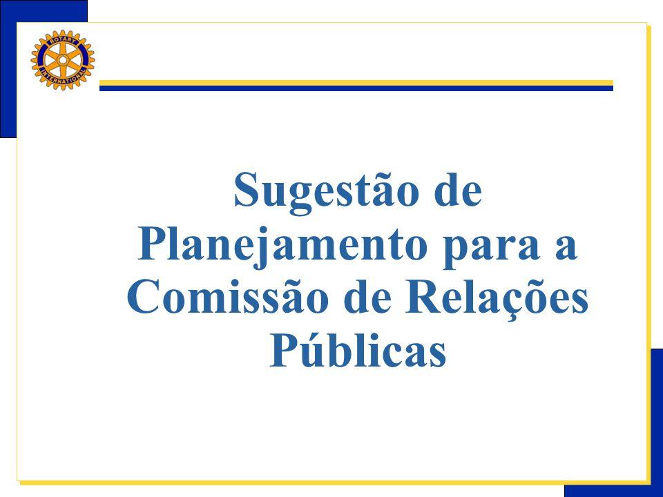 Sugestão de Planejamento para a Comissão de Relações Públicas