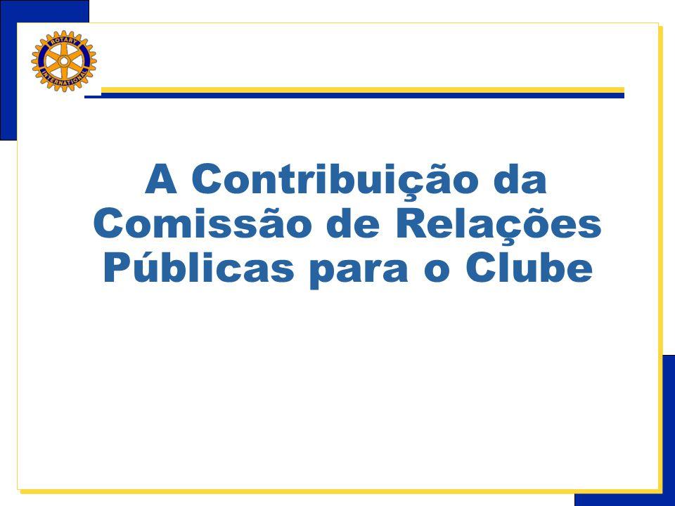 A Contribuição da Comissão de Relações Públicas para o Clube