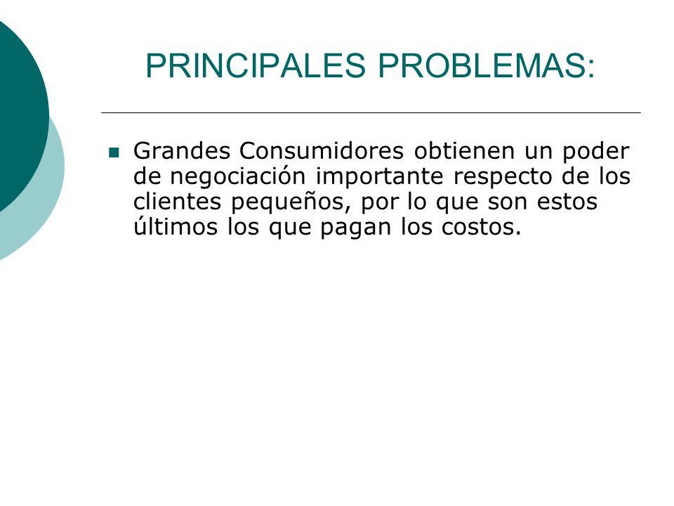 PRINCIPALES PROBLEMAS: