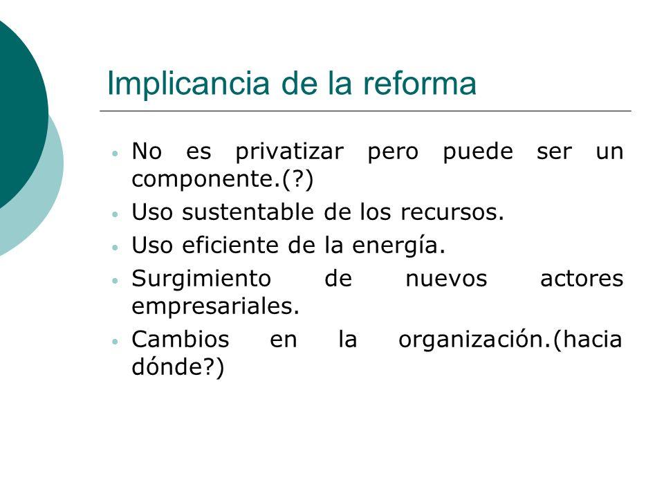 Implicancia de la reforma
