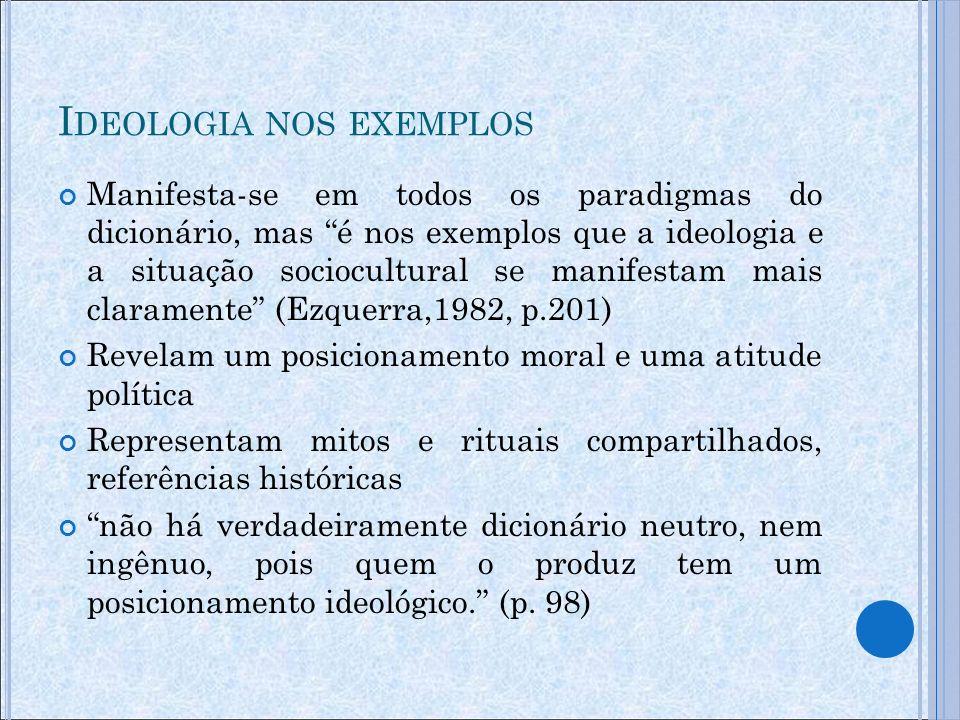 Ideologia nos exemplos