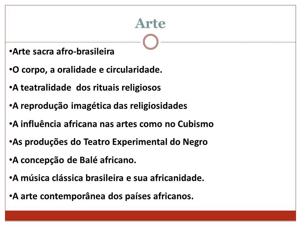 Arte Arte sacra afro-brasileira O corpo, a oralidade e circularidade.