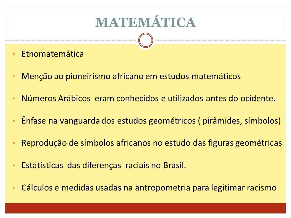 MATEMÁTICA Etnomatemática