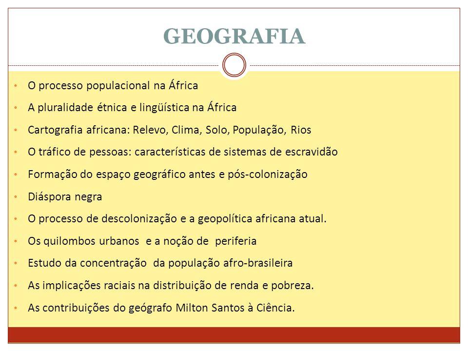 GEOGRAFIA O processo populacional na África