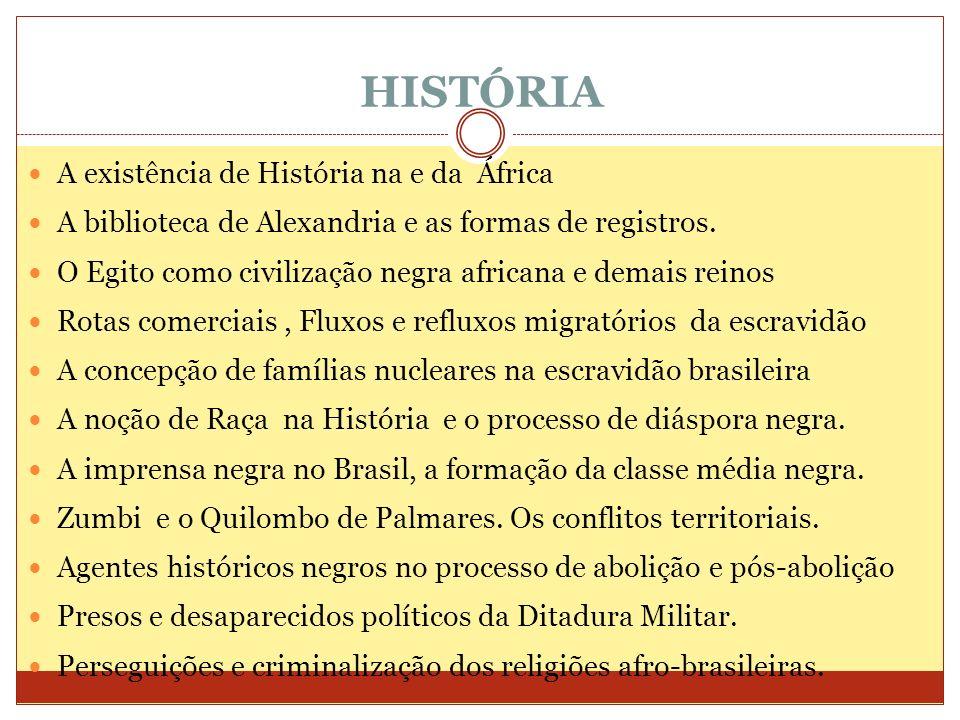 HISTÓRIA A existência de História na e da África