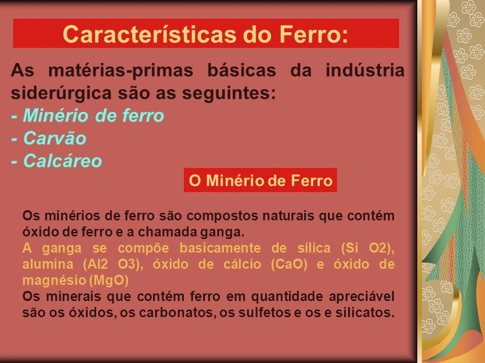 Características do Ferro: