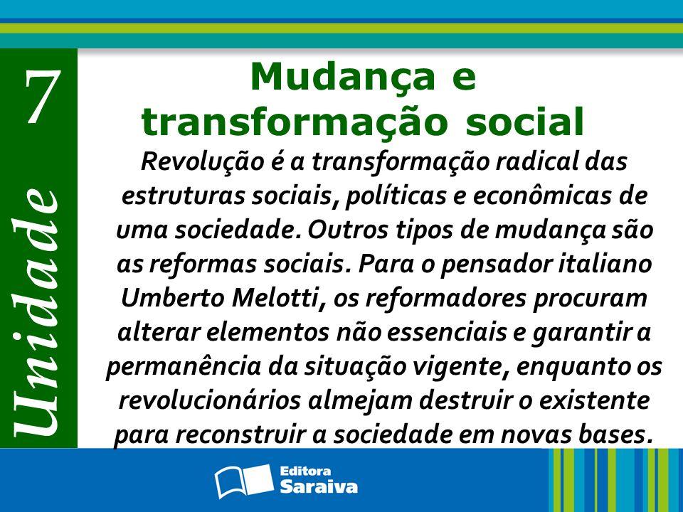 Mudança e transformação social
